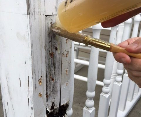 Porch Post - Rot Terminator Application