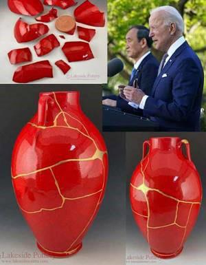 Kintsugi Vase Given to President Biden